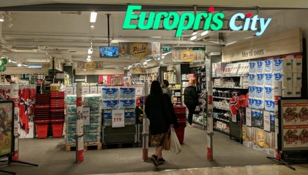 Europris åpner i november en by City-butikk på Løren. Ill.foto fra dagens City-butikk på Gunerius.