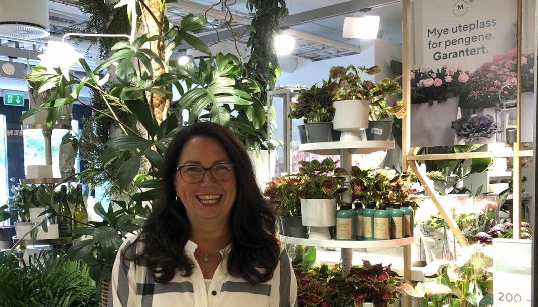 Senterleder Jorunn Røed ved Tangen Senter har god grunn til å glede seg over utviklingen for kjøpesenteret på Nesodden.