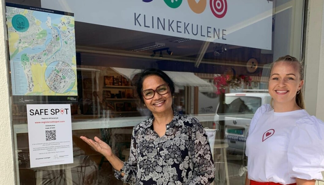Klinkekulene midt i Levanger Sentrum er ett av stedene som har startet med SafeSpot.