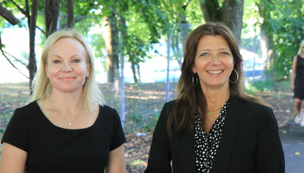 Bransjedirektør for Handel Linda Vist og adm. dir. Anne Cecilie Kaltenborn i NHO Service og Handel tror på en langvarig opptur.