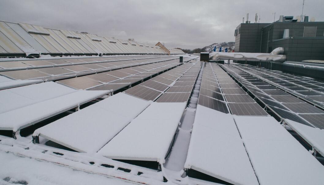 30 PROSENT MER ENERGI: Snøsmelteteknologien har fungert slik den skal det første driftsåret på taket av Down Town
