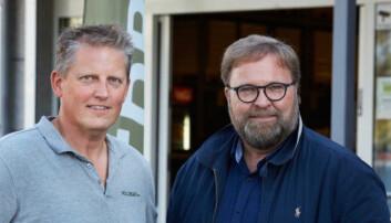 Gründerne Trond J. Laeng (t.h.) og Thor Johansen er stolte av utviklingen.