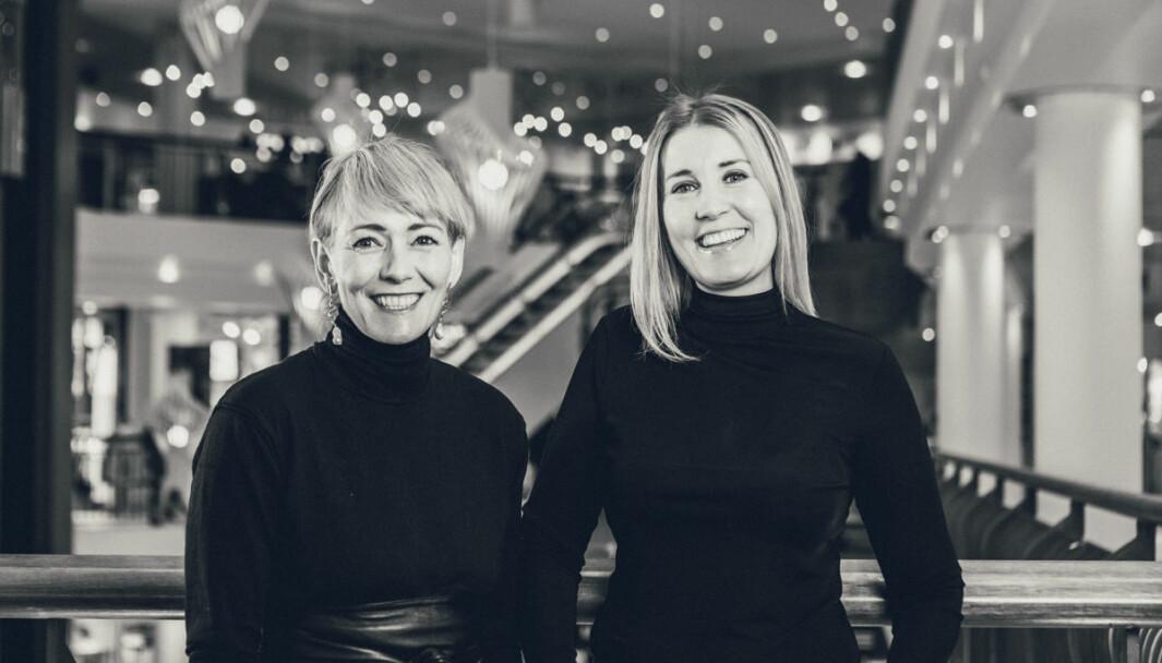 Veronica Evertsen og Marita Sørensen, hhv. senterleder og ass. senterleder Nerstranda i Tromsø, satser i år på Black Week framfor Black Friday.