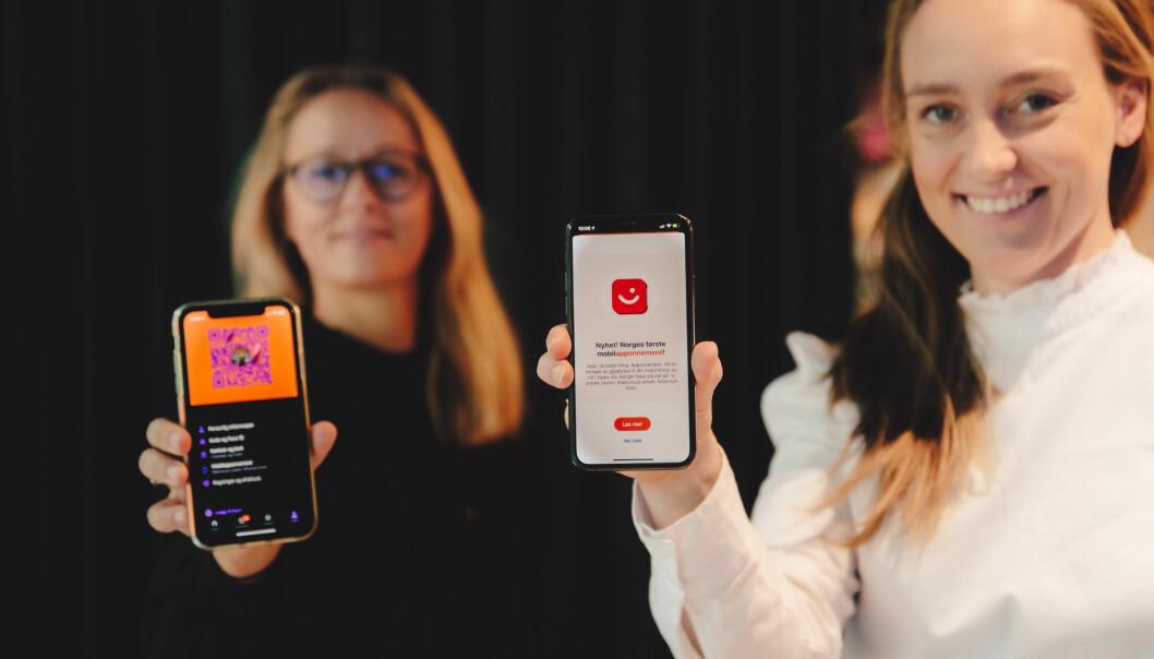 Elisabeth Haug, sjef i Vipps Mobil, og Tonje Foss Kløve, produktsjef for Vipps mobil