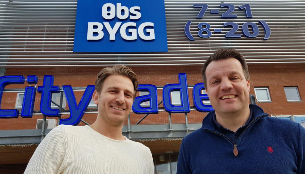 Driftsleder Bobo Marjanovic (t.v.) og senterleder Bård Bye ser fram til å starte ombyggingen.