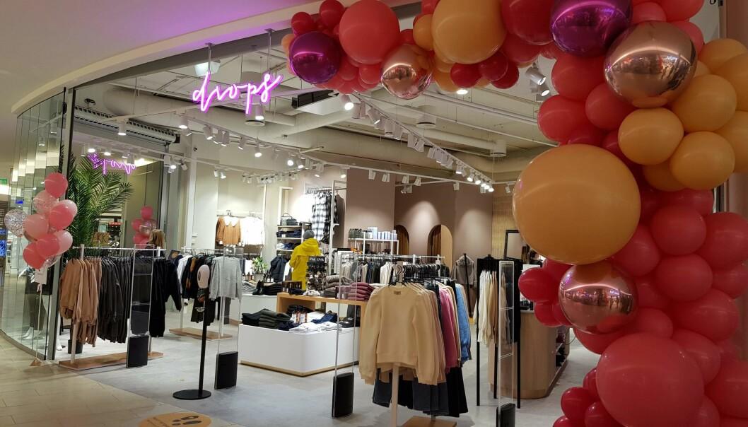 Drops var en av tre butikker som åpnet på Lambertseter Senter i dag.