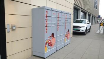 Den døgnåpne, selvbetjent pakkeautomaten som står utenfor senteret, er blitt populær for kunder som foretrekker netthandel.