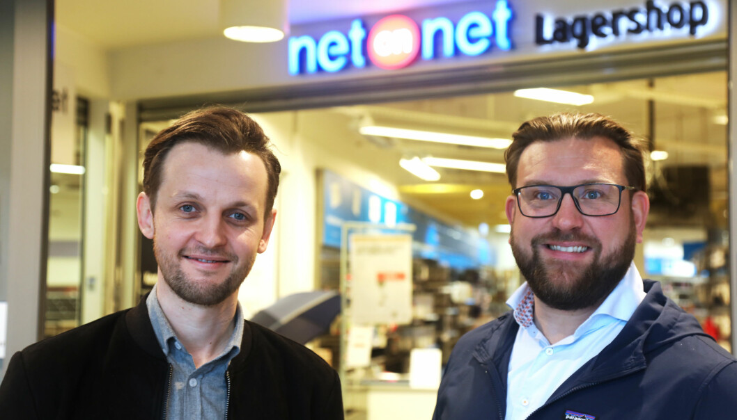 Lasse Myrås i Best Transport og Peter Andersson i NetOnNet.