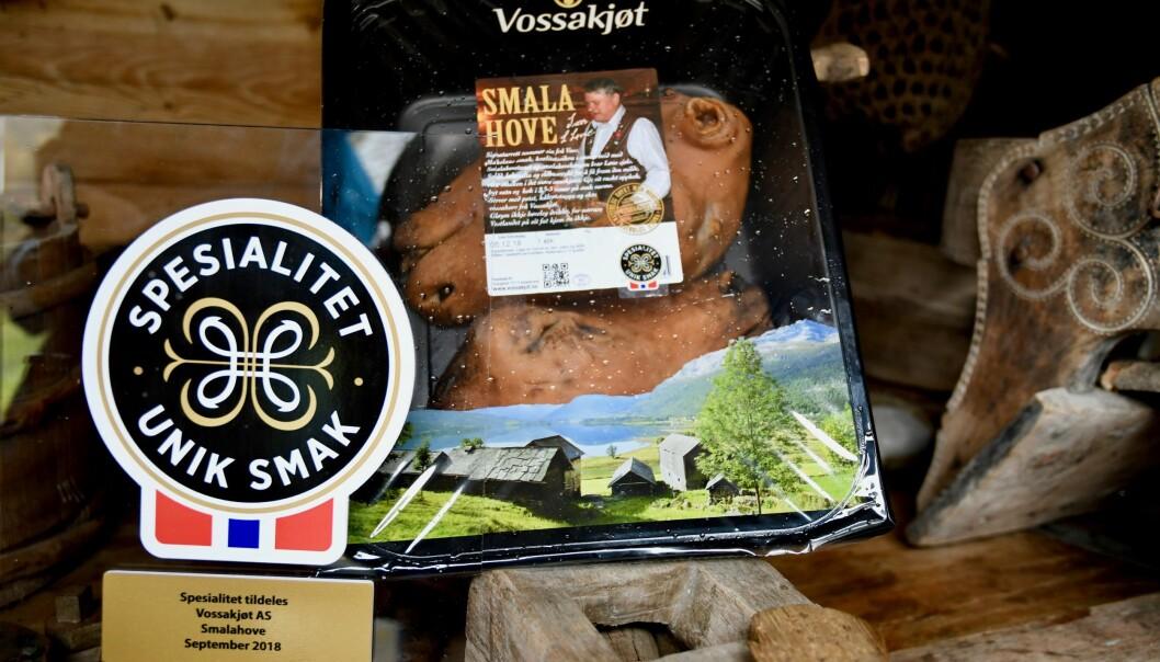Produkter fra Vossakjøt med Spesialitet-merket.