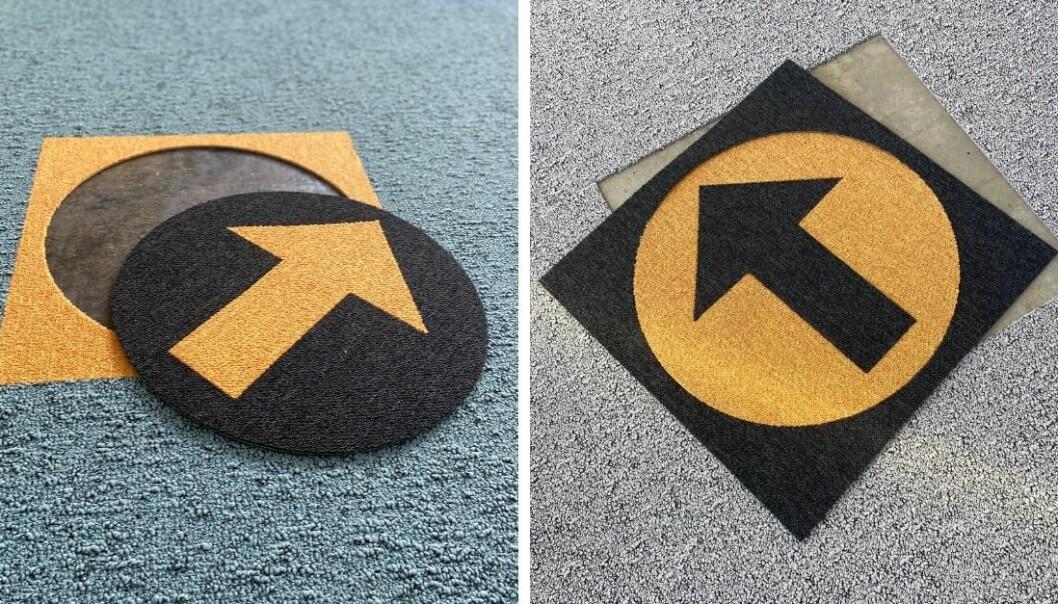 Teppefliser har den fordelen at de kan brukes for budskap. I tillegg er det å skifte dem.