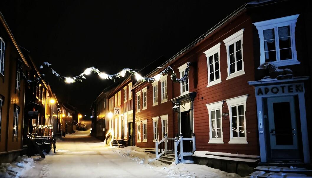 Stemningen i Bergstaden er magisk i juletida.