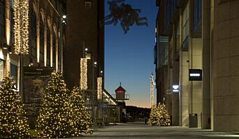 Bruker julebelysningen aktivt i markedsføringen
