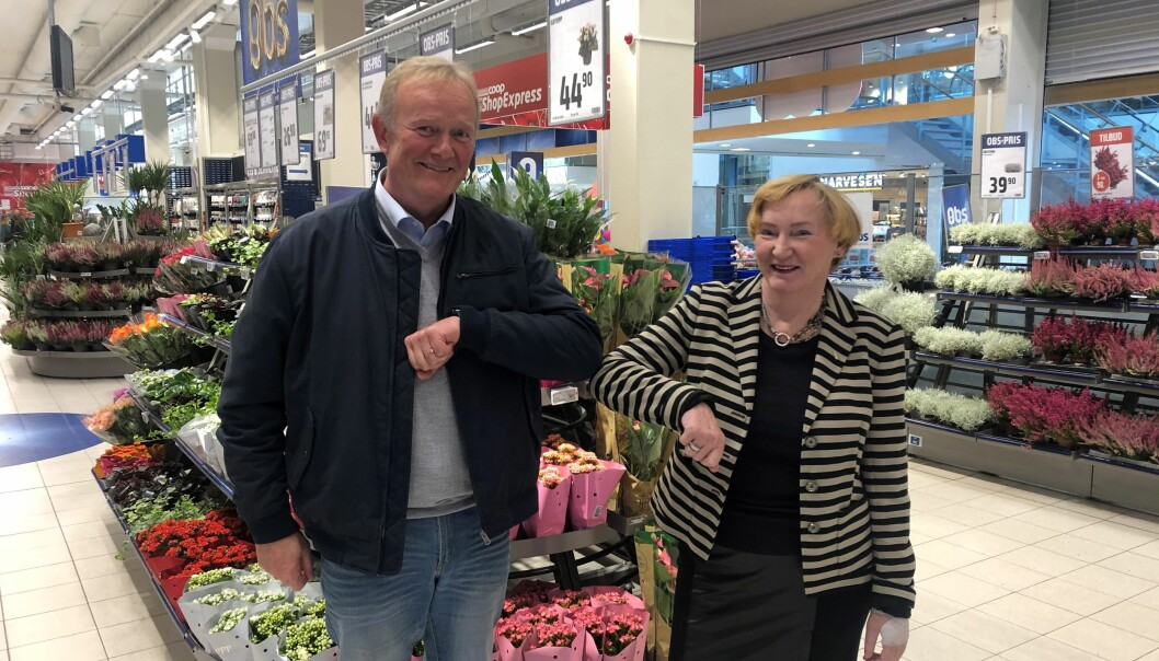 Svein Are Olsen, styreleder Coop Høylandet og Lisbeth Bull Husby, styreleder Coop Midt-Norge.