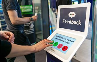 Enkel tilbakemeldingsløsning gir mange svar fra kunder