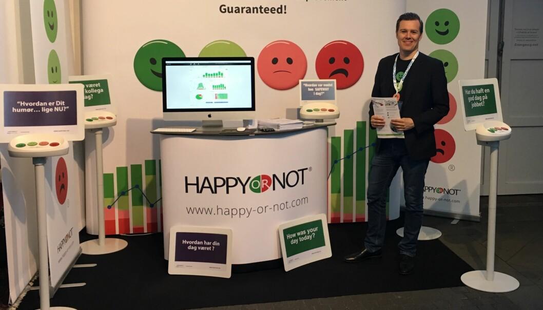 Kim Marott forteller at HappyOrNot er blitt tatt godt i mot på det norske markedet.