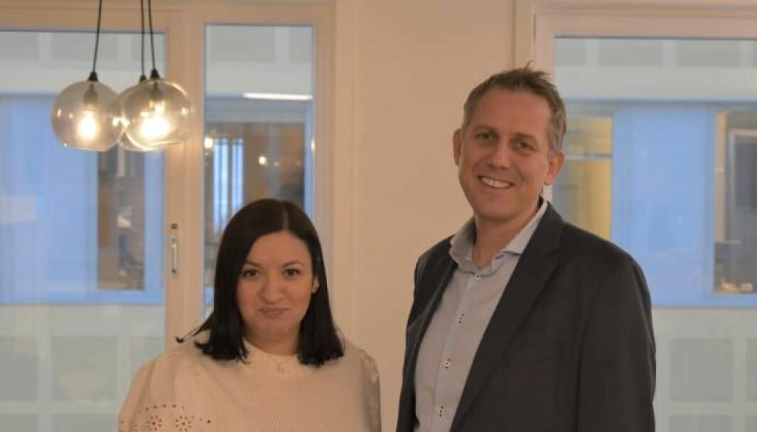 Fatima Elkadi og Dag Harlem Stenersen er nye mellomledere i JYSK Norge.