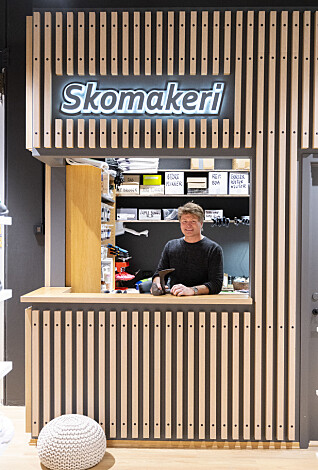 Lameller er et designelement som binder avdelinger sammen.