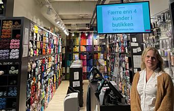 Med besøkskontroll overholder butikken kravene