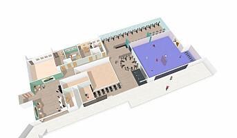 Treningssenter over tre etasjer på Stovner Senter
