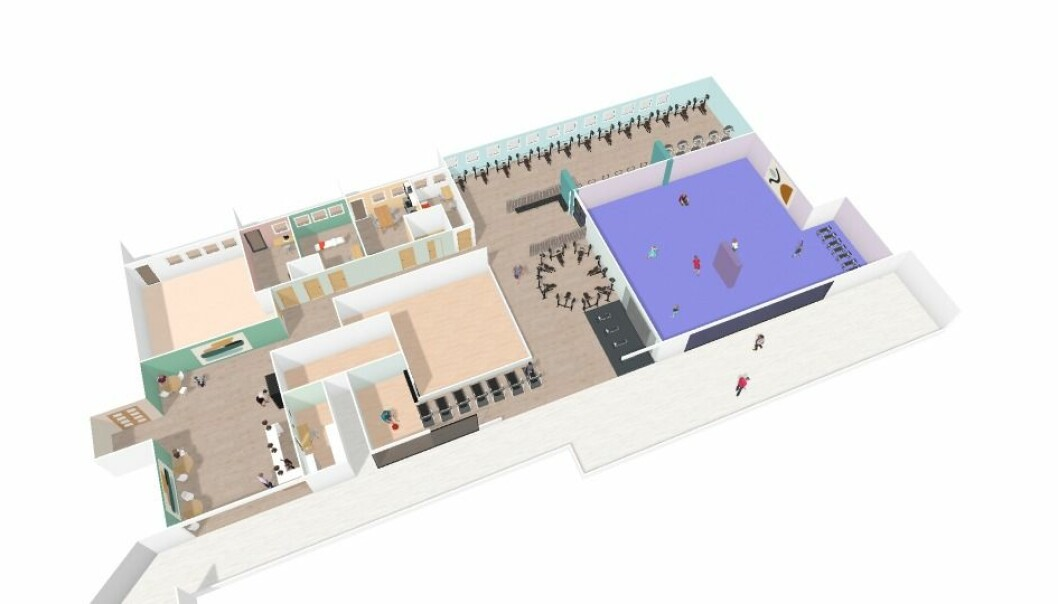 STORSATSING PÅ STOVNER SENTER: STOLT trening åpner treningssenter over tre etasjer i løpet av 2021.