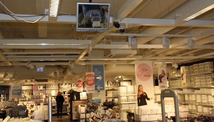 Overvåkningskameraer har Clas Ohlson i alle butikker. De fungerer forebyggende og som en trygghet for personalet.