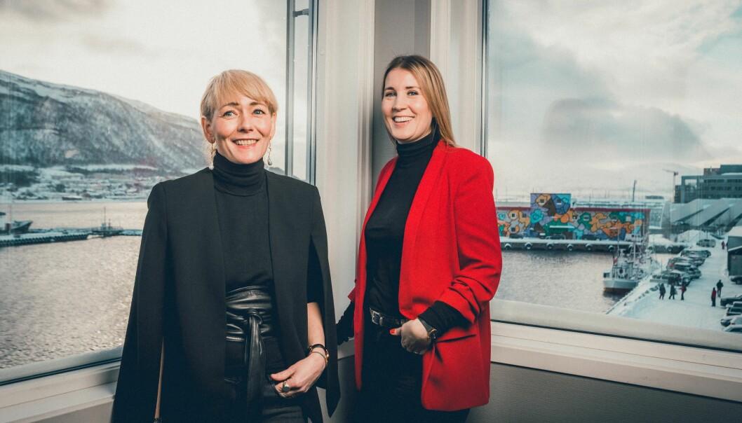 Senterleder Veronica Evertsen og assisterende senterleder Marita Sørensen.