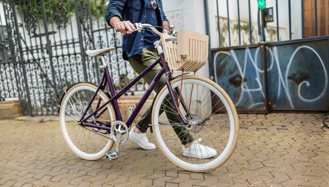 """""""Re:cycle""""-sykkelen fra Velosophy er laget av gjenvunne kapsler fra Nespresso."""