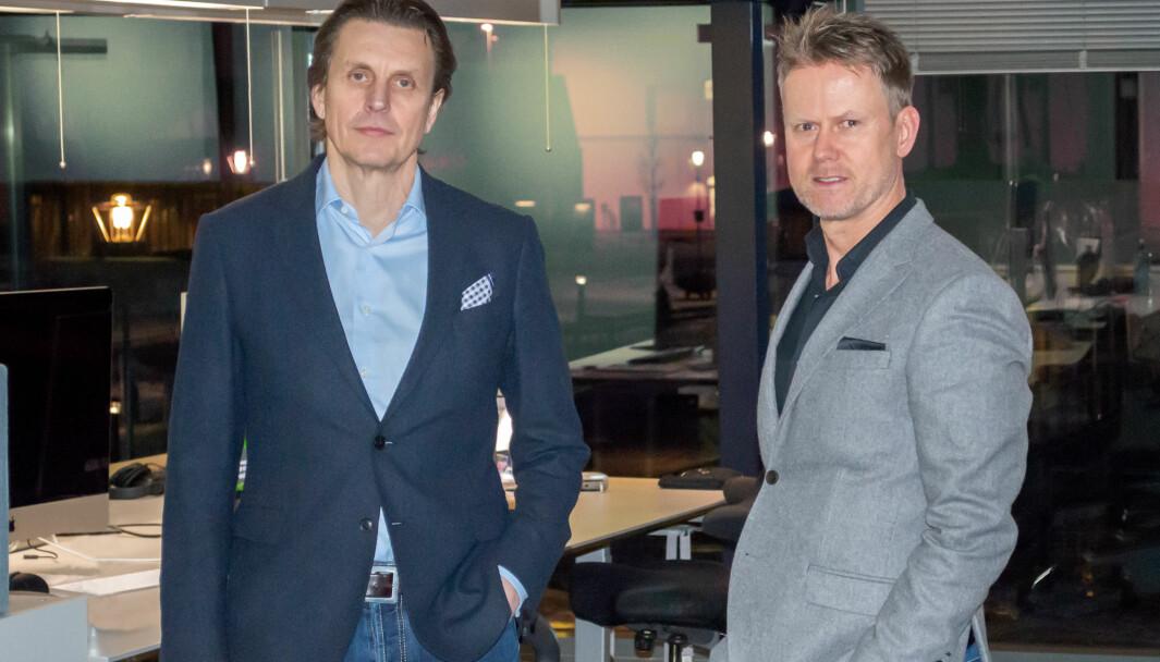 Per Oldeide i Paperfly og Karl Fredrik Lund i BrandMaster går sammen for å styrke seg internasjonalt.