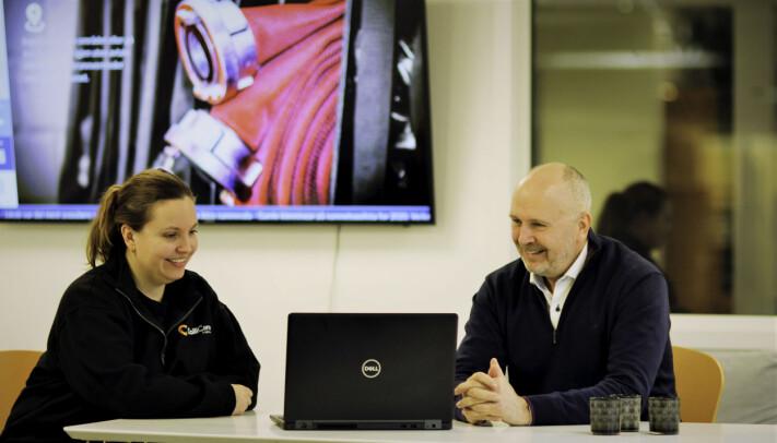 Maria Spone (Site Manager Storage) og Bent Arild Hære (Sales Manager) er klar for å håndtere flere kunder på lagerhotellet i Vestby, gjerne fra retail.