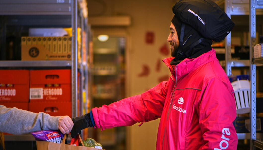 Rask hjemlevering etter bestilling er en suksessfaktor når foodora går inn i dagligvarebransjen.