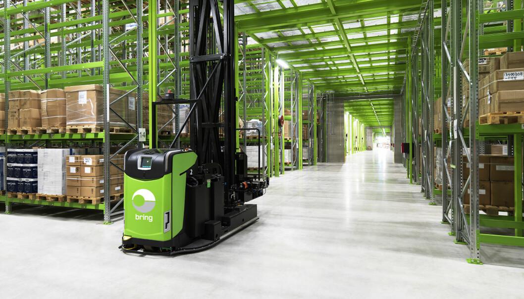 Fulfilmentlageret på Berger blir helautomatiskt (førerløse trucker betjener lageret også i dag).
