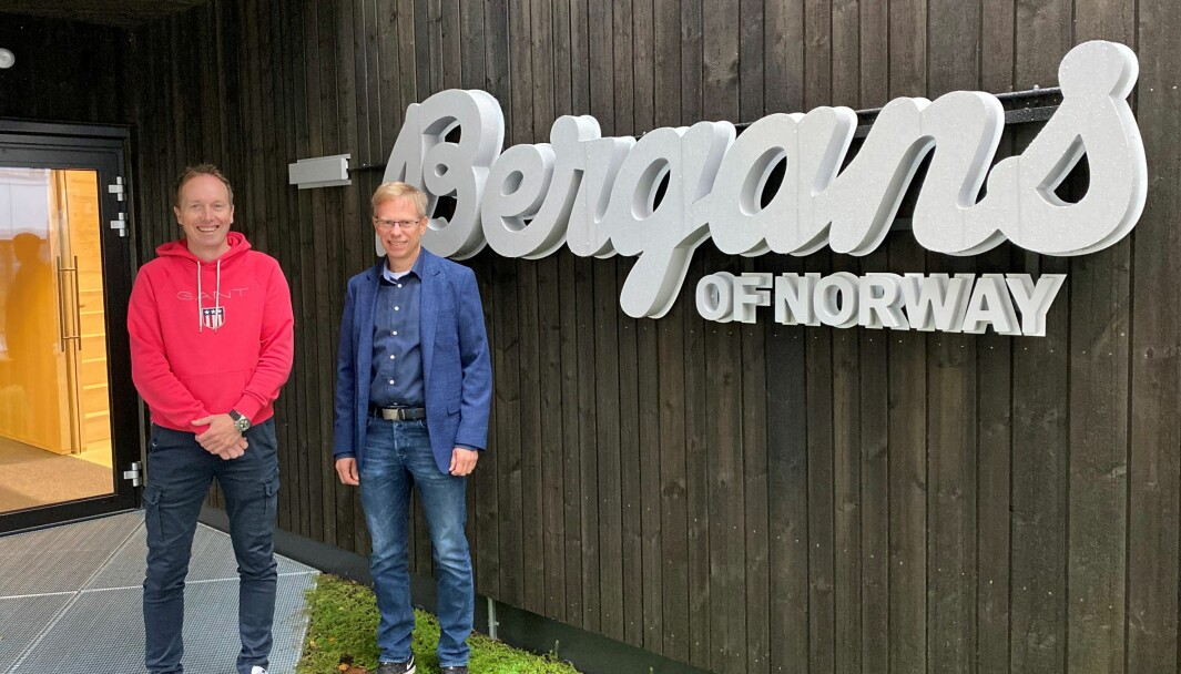 – Hos Pilaro har vi hatt høy prioritet hele tiden, sier Chief Information Officer i Bergans, Espen Jensen (til venstre). Her sammen med senior konsulent i Pilaro, Bjørn Martini.