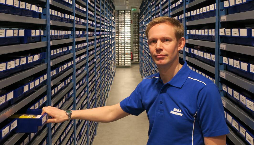 Andreas Rylander er ny toppsjef for Kjell & Company. Her bilde fra 2016 da han var norgessjef med ansvar for å etablere kjeden her til lands.