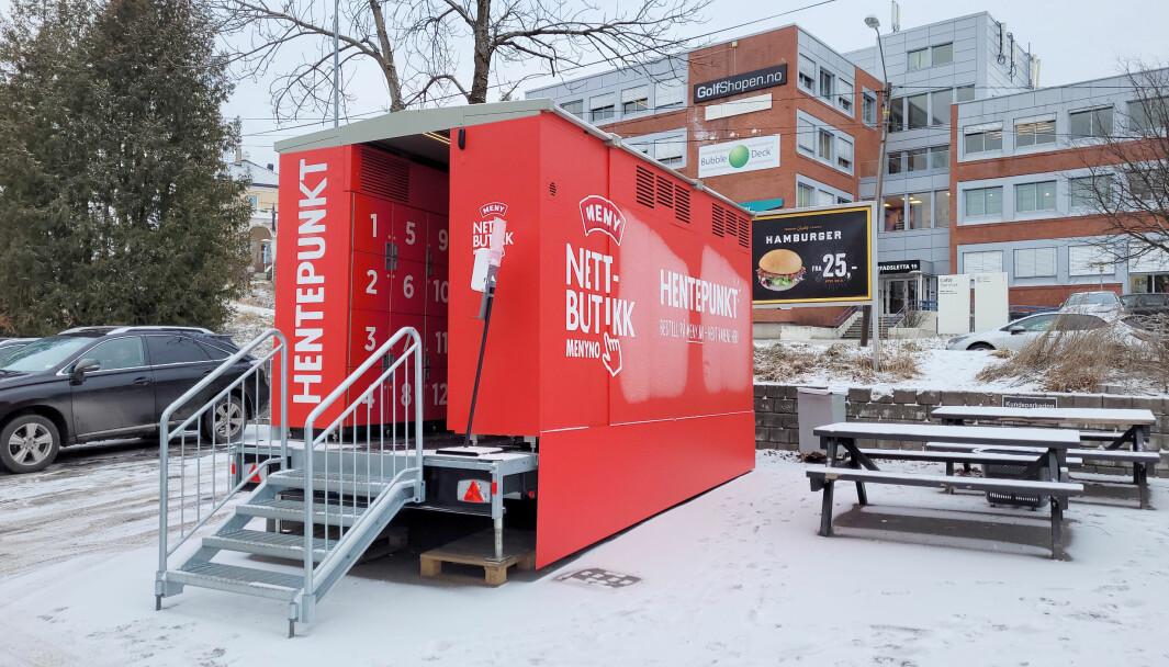 MENY tester ut mobile henteskap, i første omgang to skap i Bærum.