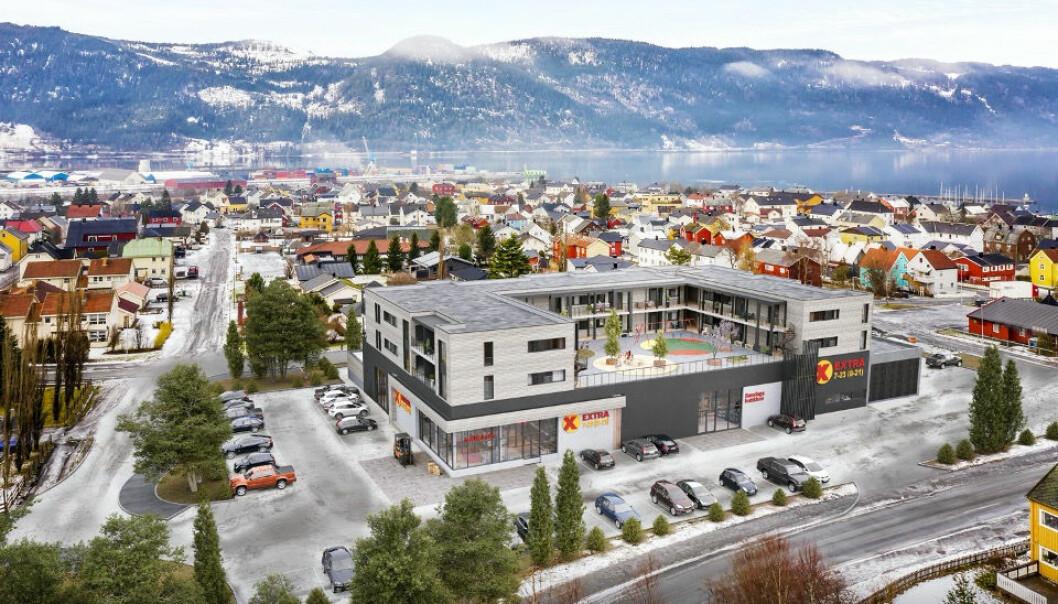 På Orkanger er det en stor Coop EXTRA pluss en søndagsbutikk med egen inngang i 1. etasje. På taket i 2. og 3. etasje er det bygget 72 moderne leiligheter.