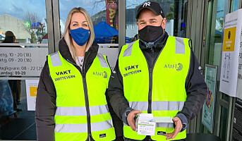 Forsterket smittevern med vakthold på Amfi Flekkefjord