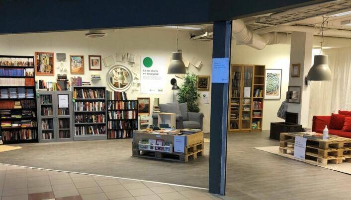 Bokkiosken i Parkhjørnet drives som pop-up i samarbeid med IKEA.