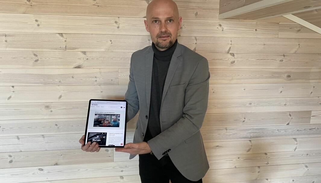 Petter Gram, leder for e-Commerce i Optimera, satser på å ligge i front i bransjen digitalt.