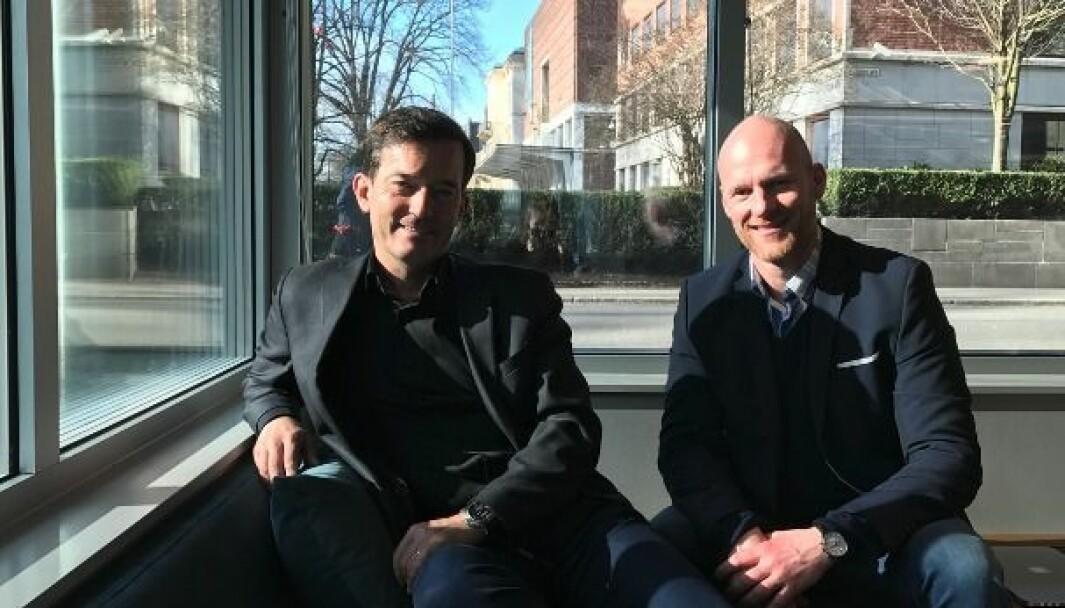 Trond Riiber Knudsen og Peder Aaserud i Shoppit mener at klikk & hent har et uutnyttet potensiale.