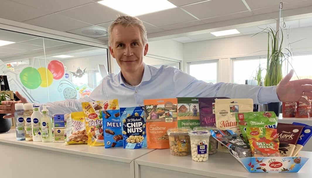 Vi treffer godt på lanseringene og lager produkter som smaker godt og ser bra ut. Det er suksessformelen når man jobber med nøtter og godteri, sier Brynild-sjef Anders Brynildsen.