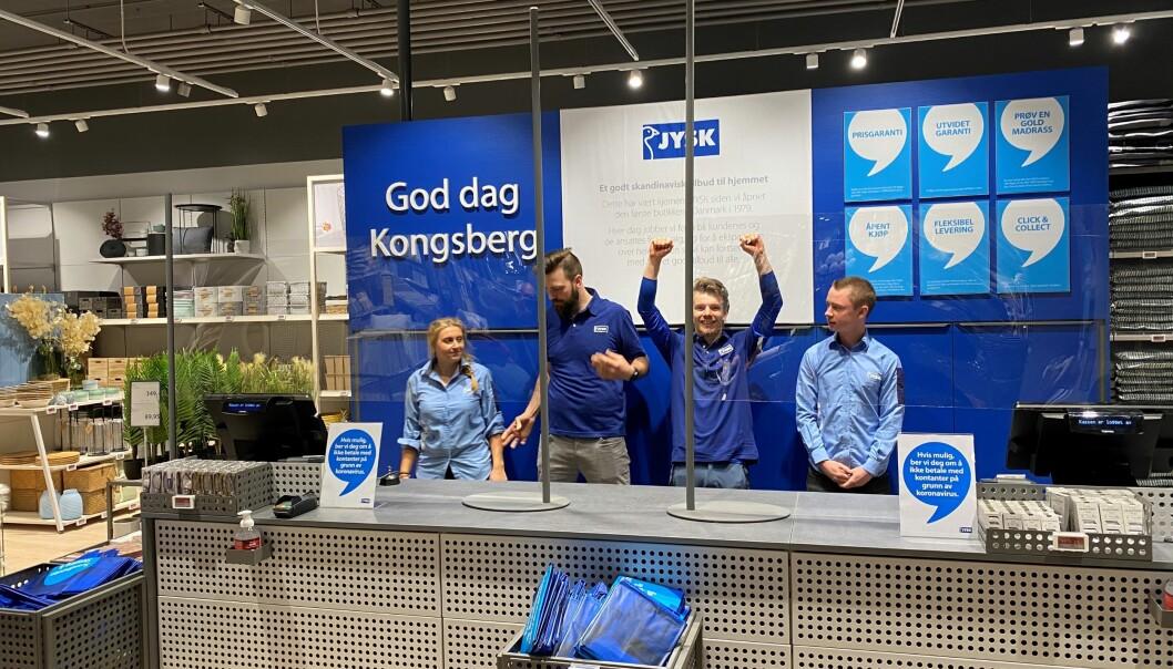 Jysk flyttet inn i nye lokaler på Kongsberg, som har kjedens nyeste butikkonsept.