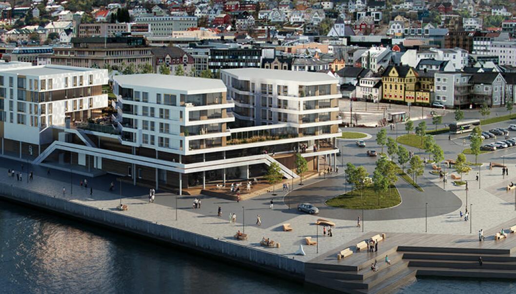 Arena Larsneset på bryggekanten i Harstad blir et helt kvartal på 16 mål.
