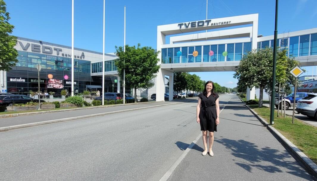 Departementets endelige avgjørelse utløste en gledens dag på Tvedtsenteret, sier Siri Nybø, adm.dir. i Tvedt Eiendom AS