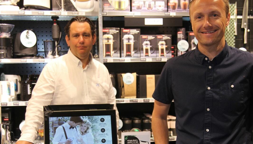 IT & logistikksjef Petter Grålumstuen og markedssjef Oddbjørn Sivertsen konstaterer fornøyd at Kitch'n og Tilbords er på vei mot full unified commerce.
