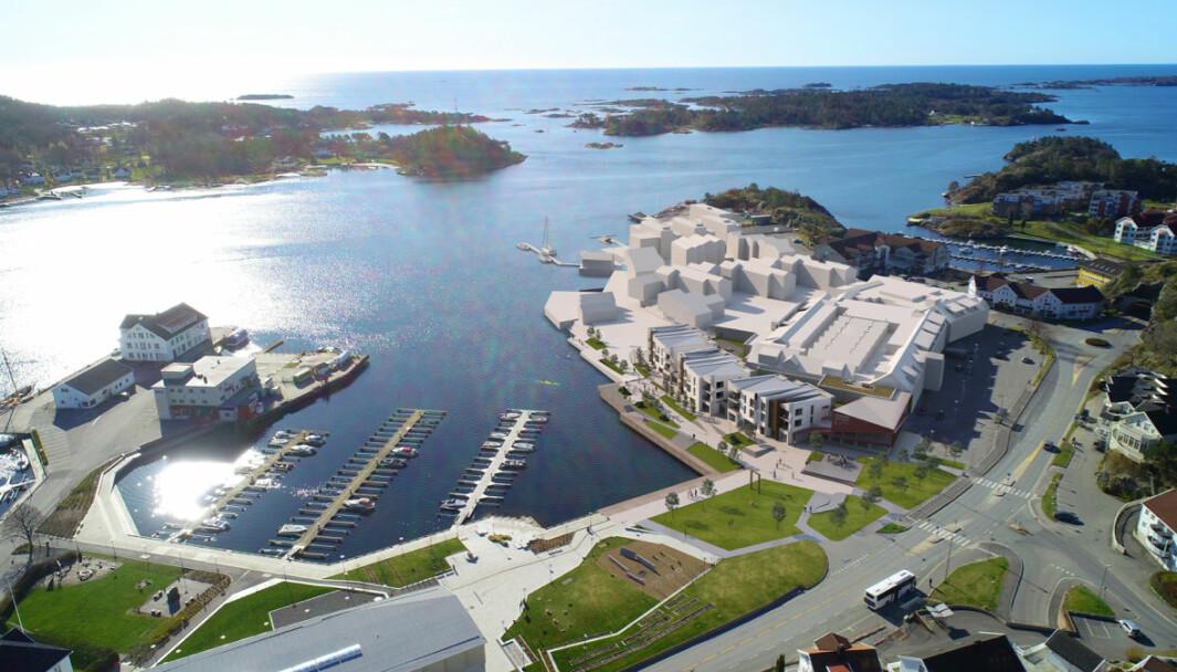 'Nye Oddensenteret' framhever naturlig den historisk maritime tilknytningen.