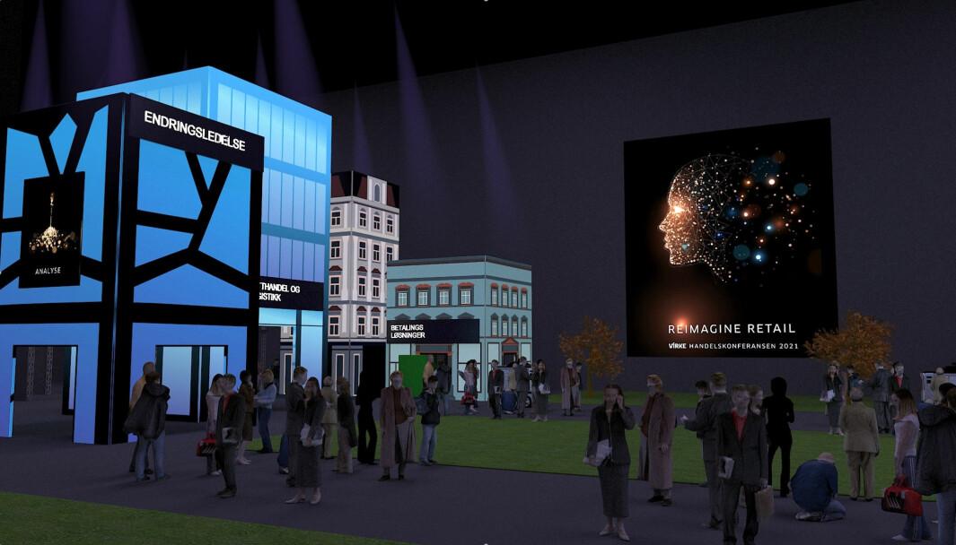 På Handelskonferansen skal Virke bygge fremtidens handelsby i Oslo Spektrum, der deltakerne kan vandre i gatene og treffe bransjekolleger og medlemmer, delta på verksteder og foredrag