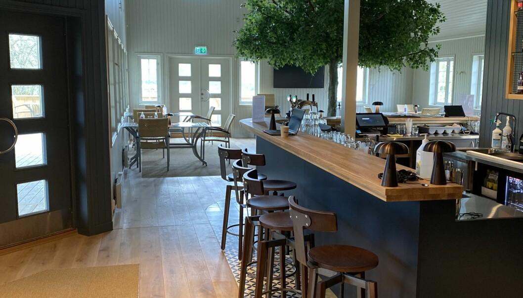 Norskand bygget restauranten på Evje Golfpark i rekordfart.
