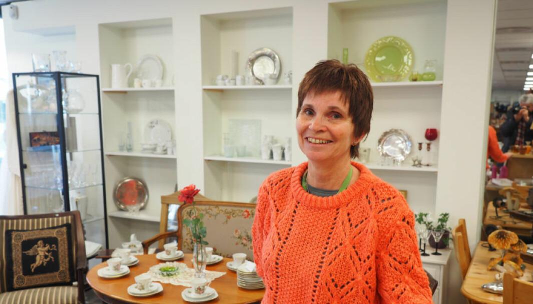 Anita Næss Thorängen, daglig leder i Galleri Normisjon, har bygget en kjede av bruktbutikker og nettbutikk.
