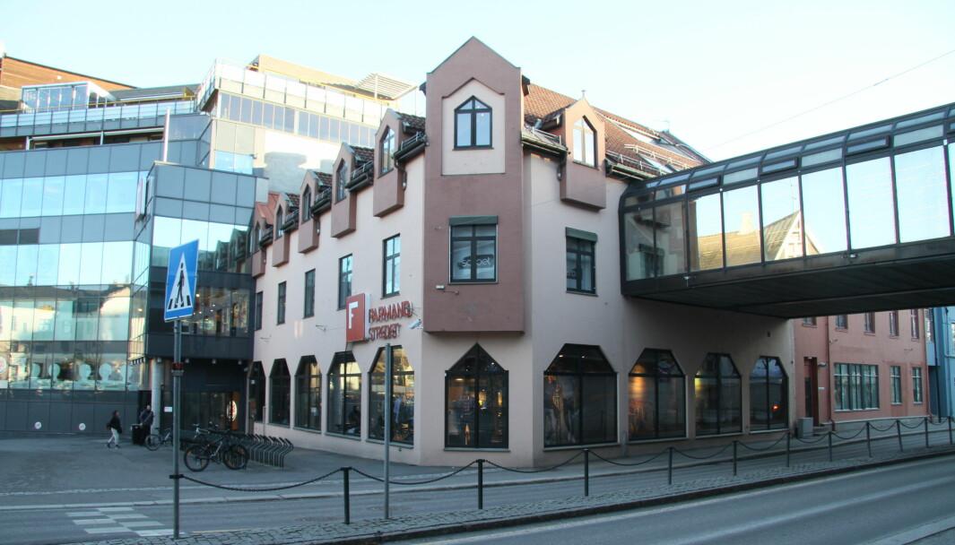 Farmandstredet består av flere bygg i Tønsberg sentrum som er knyttet sammen.