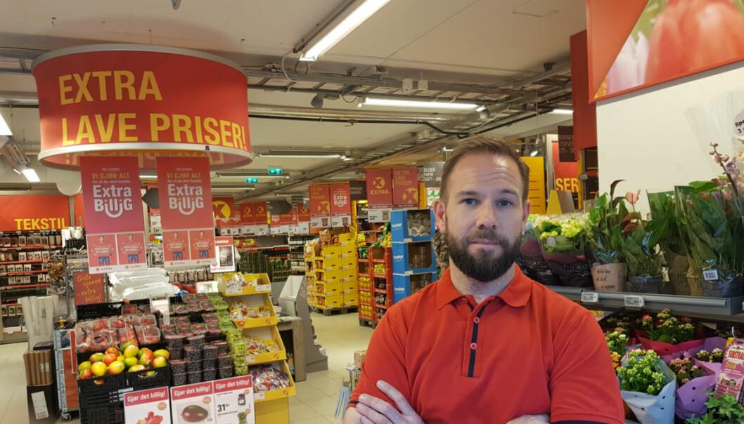Marius Moslet har opplevd at omsetningen er doblet i løpet at de seks årene som er gått etter at han ble butikksjef etter fullført bachelorgrad.